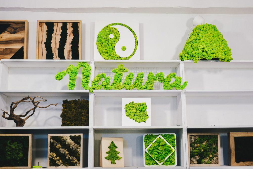 zielone dekoracje od Juko Green Design
