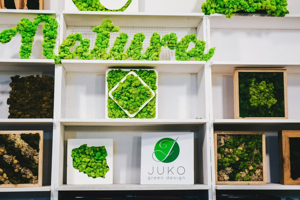 zielone dekoracje Juko Green Design