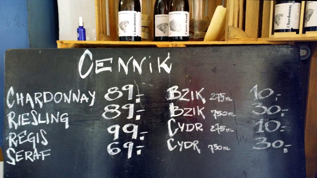 Winnica Wieliczka ceny