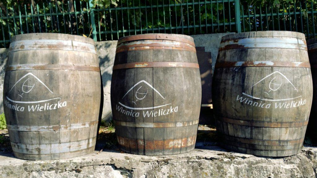 beczki z winem Wieliczka